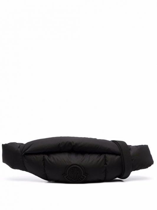 Moncler logo-patch belt bag - Schwarz