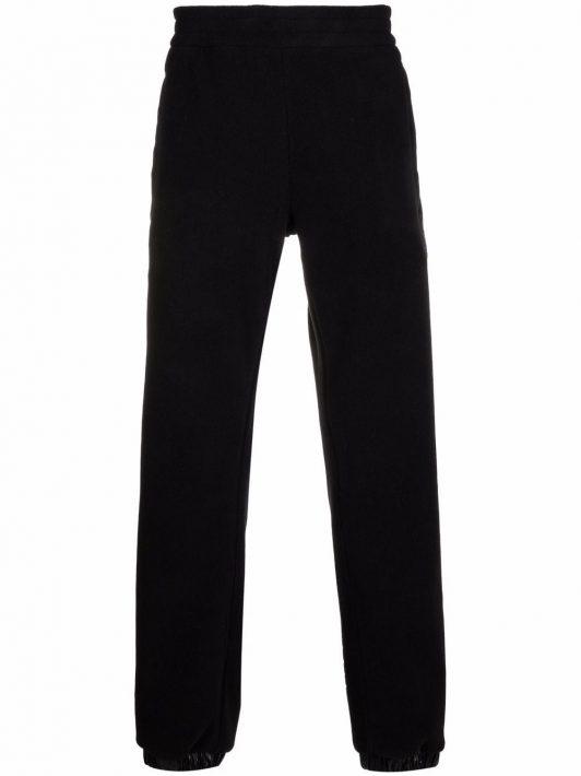 Moncler logo-patch reversible padded track pants - Schwarz