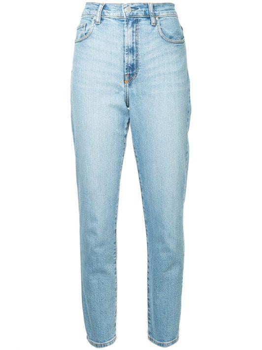 Nobody Denim 'Frankie' Cropped-Jeans - Blau