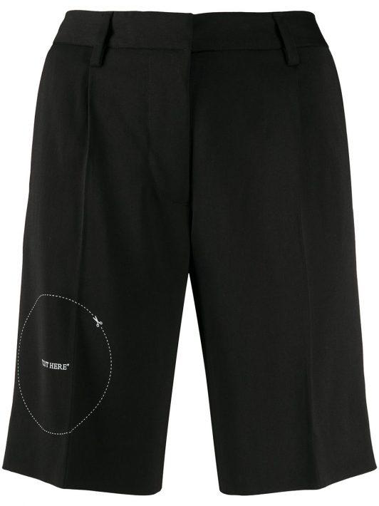 Off-White Shorts mit Stickerei - Schwarz