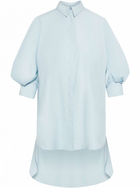 Oscar de la Renta Hemd mit asymmetrischem Saum - Blau
