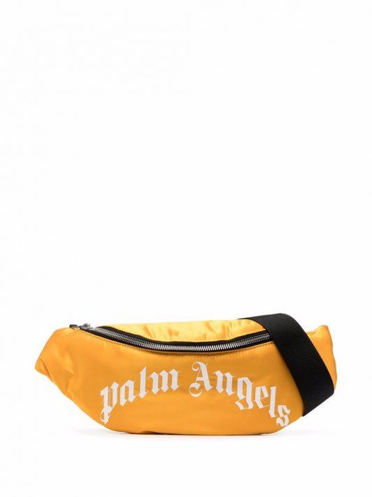 Palm Angels logo-print belt bag - Gelb