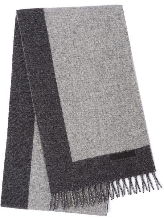 Prada Gestrickter Schal mit Fransen - Grau
