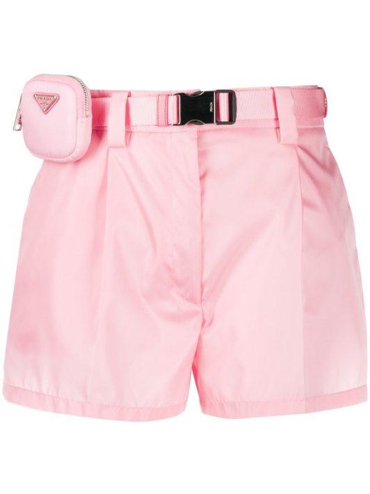 Prada Shorts mit Gürtel - Rosa