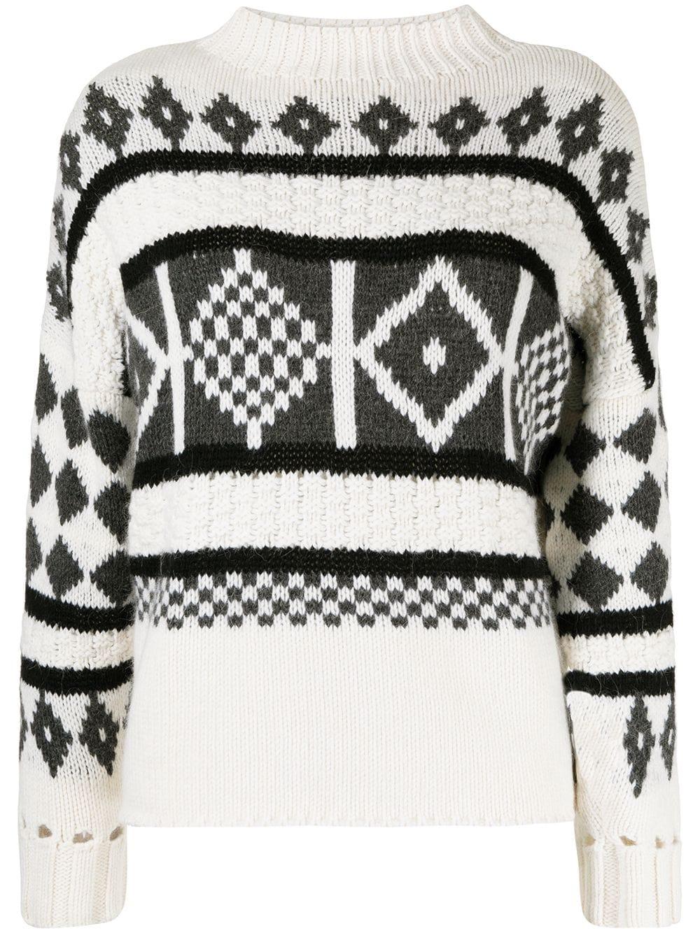 Pringle of Scotland Sanquhar-knit mock-neck jumper - Weiß