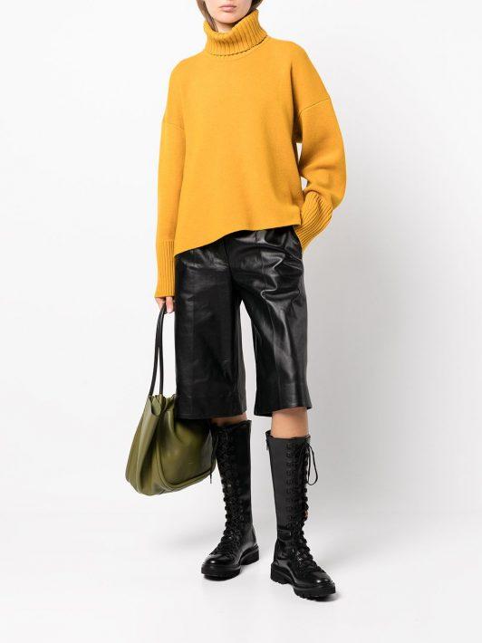 Proenza Schouler Leather Knee Length Shorts - Schwarz