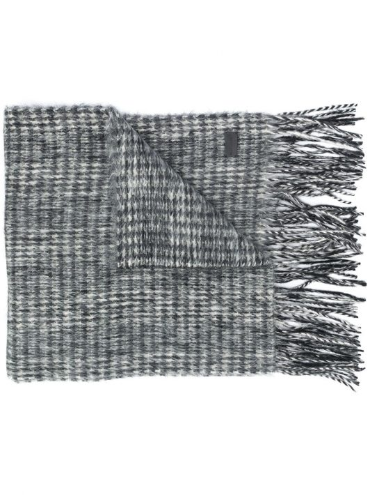 Saint Laurent Klassischer Schal - Grau