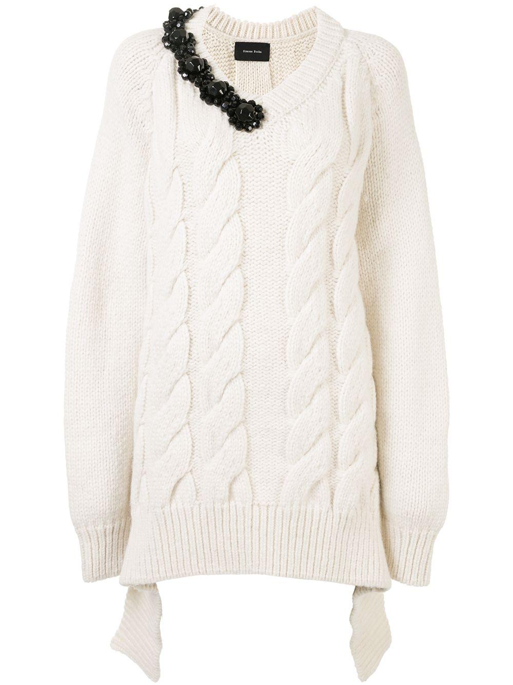 Simone Rocha Verzierter Pullover - Weiß