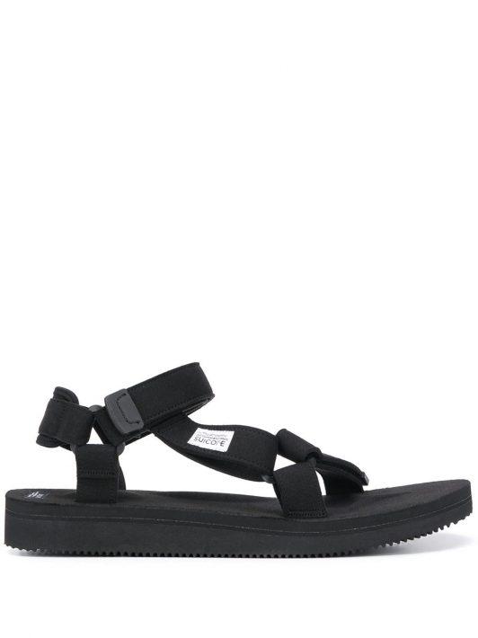 Suicoke Sandalen mit Klettverschluss - Schwarz