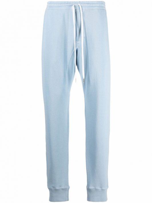 TOM FORD slim-fit cotton track pants - Blau