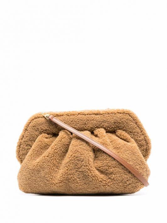 Themoirè Teddy clutch bag - Braun