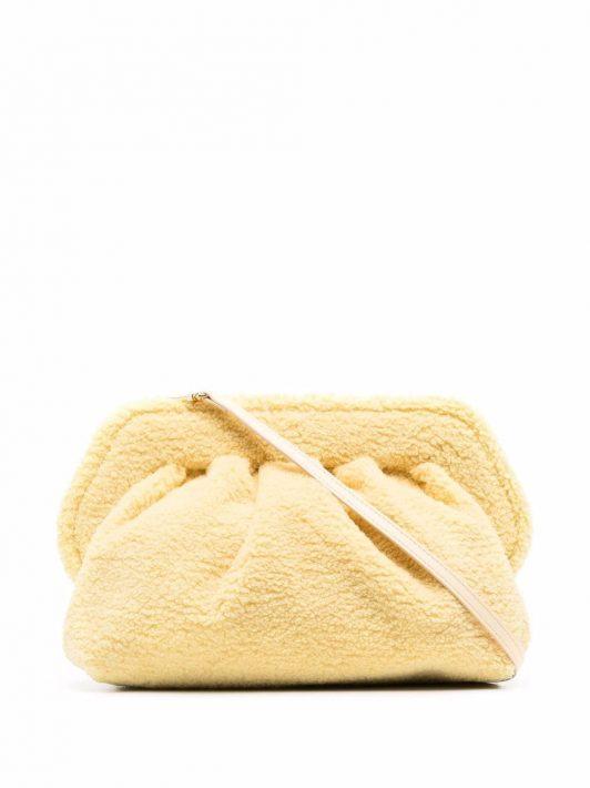 Themoirè Teddy clutch bag - Gelb