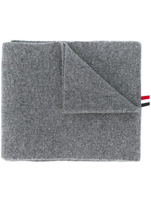 Thom Browne Schal mit Logo-Streifen - Grau