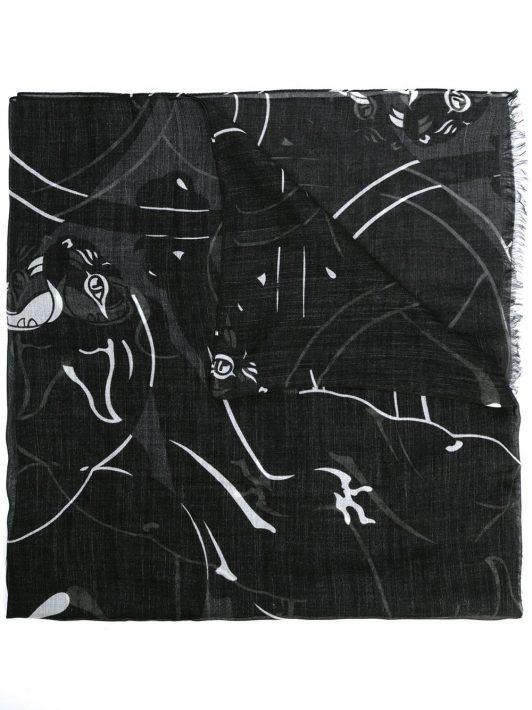 Valentino Schal mit abstraktem Print - Grün