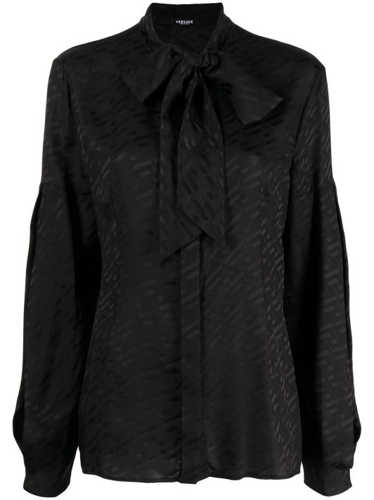 Versace La Greca Seidenhemd - Schwarz