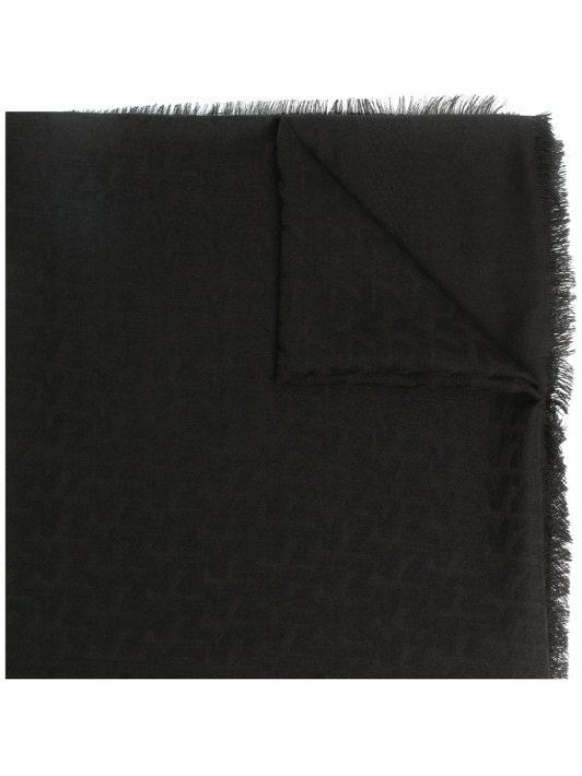 Zadig&Voltaire 'Glenn' Schal mit Logo - Schwarz